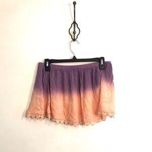 [TOBI] Purple/Pink Ombré Skirt - Size Small